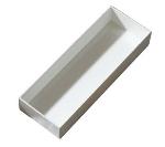 Bon Chef 9512S WH Straight Bowl, 6-7/8 x 19-5/8 x 3-in, Aluminum/White