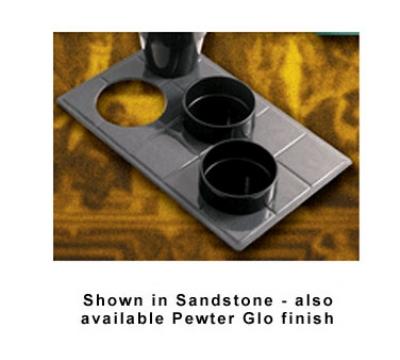 Bon Chef 960039013S GRN Custom Cut Tile Tray for (3) 9013, Aluminum/Hunter Green