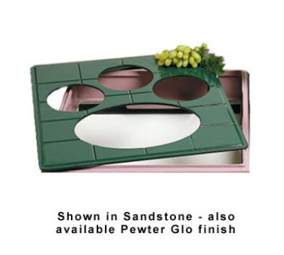 Bon Chef 96062106S WH 1-1/2-Size Tile Tray for 2106, 19.5 x 21.5-in, Aluminum/White