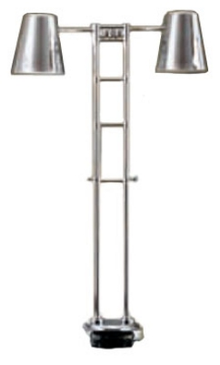 Bon Chef 9684H Adjustable High Stand Heat Lamp, 58-in Maximum Height, 110 V