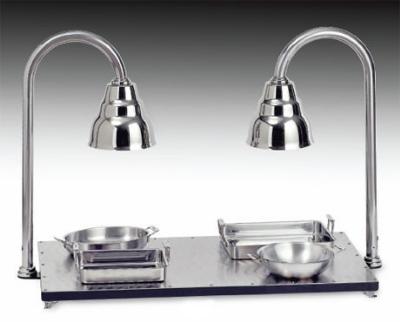 Bon Chef 9687 Heated Buffet Hot Plate w/  Heat Lamp, Stainless Steel