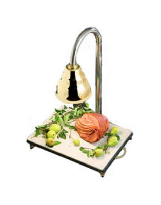 Bon Chef 9694 Carving Station w/  Heat Lamp, Brass Shade, 24 x 18 x 30.5-in