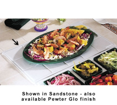 Bon Chef 9600H5099S WH Custom Cut Tile Tray for 5099, Aluminum/