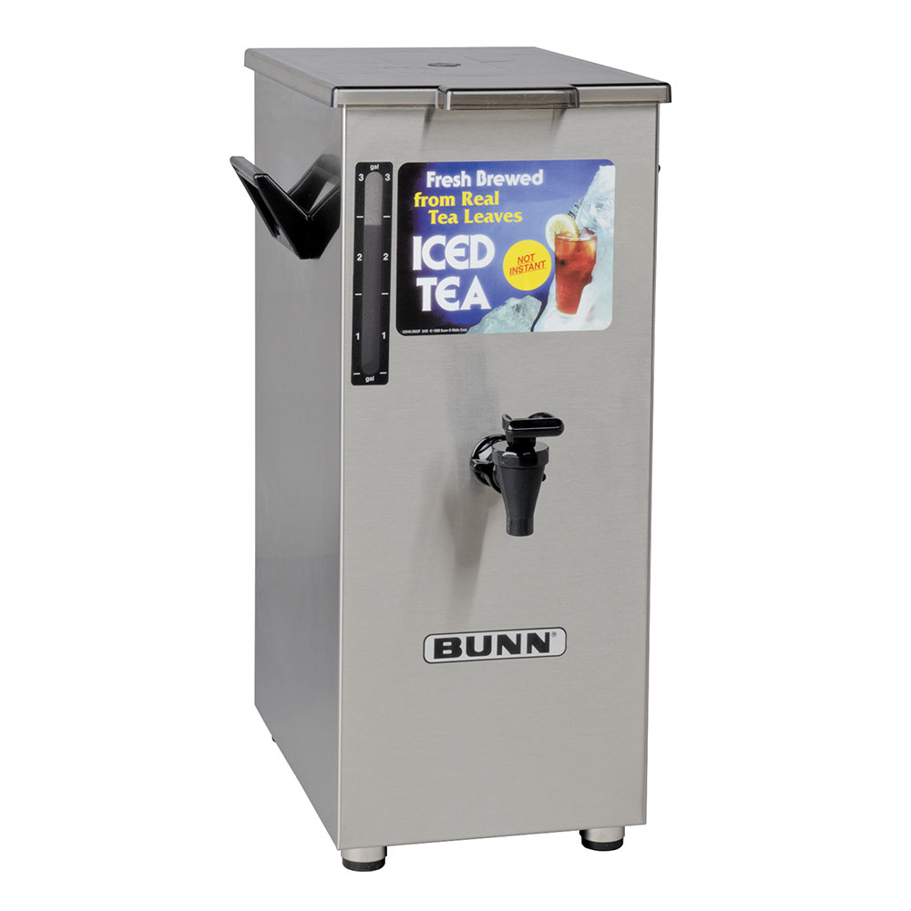 BUNN-O-Matic 03250.0004 TD4T Iced Tea Dispenser, Square, 4 Gallon, Solid Lid, Tall
