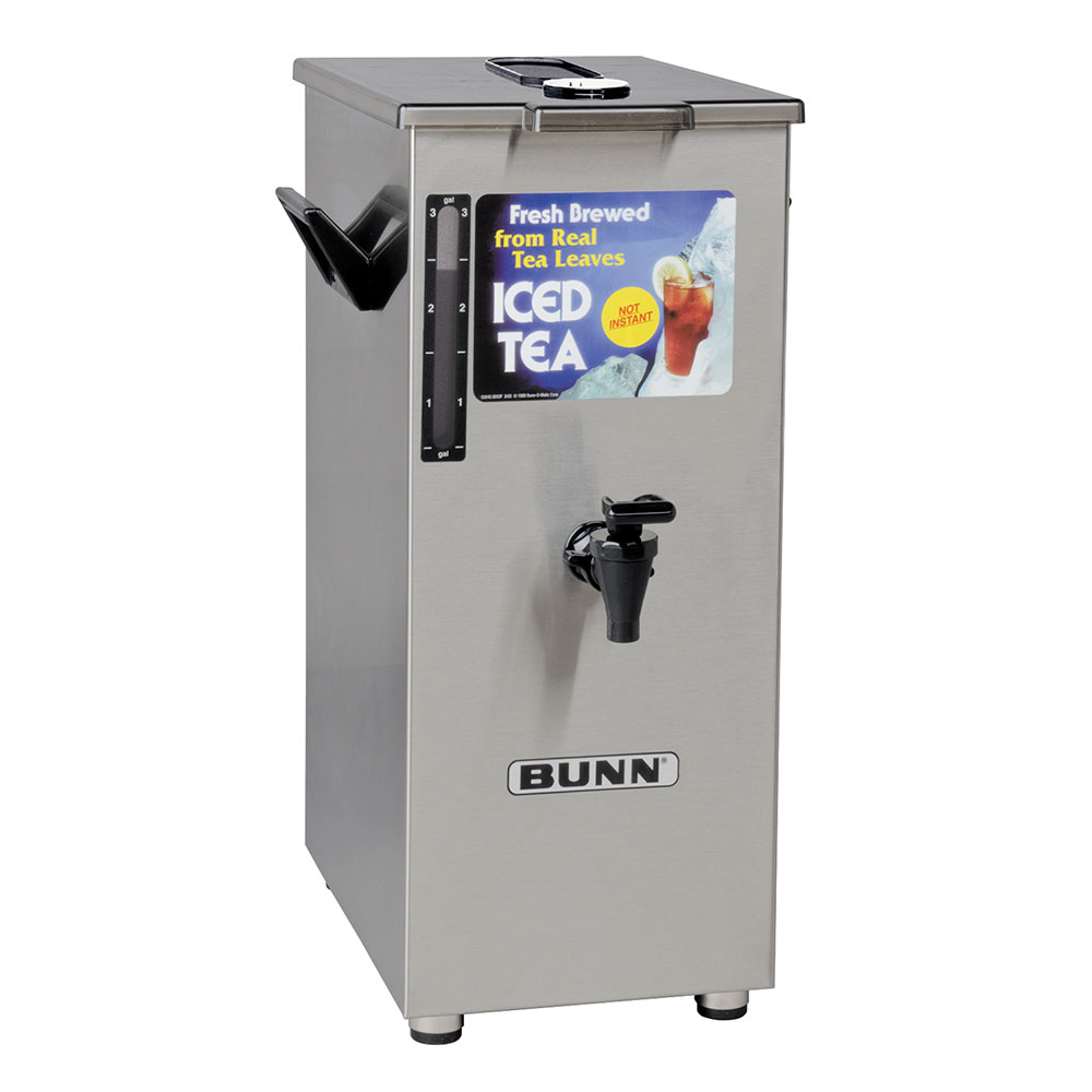 BUNN-O-Matic 03250.0005 TD4T Iced Tea Dispenser, Square, 4 Gallon, Brew-Through Lid, Tall