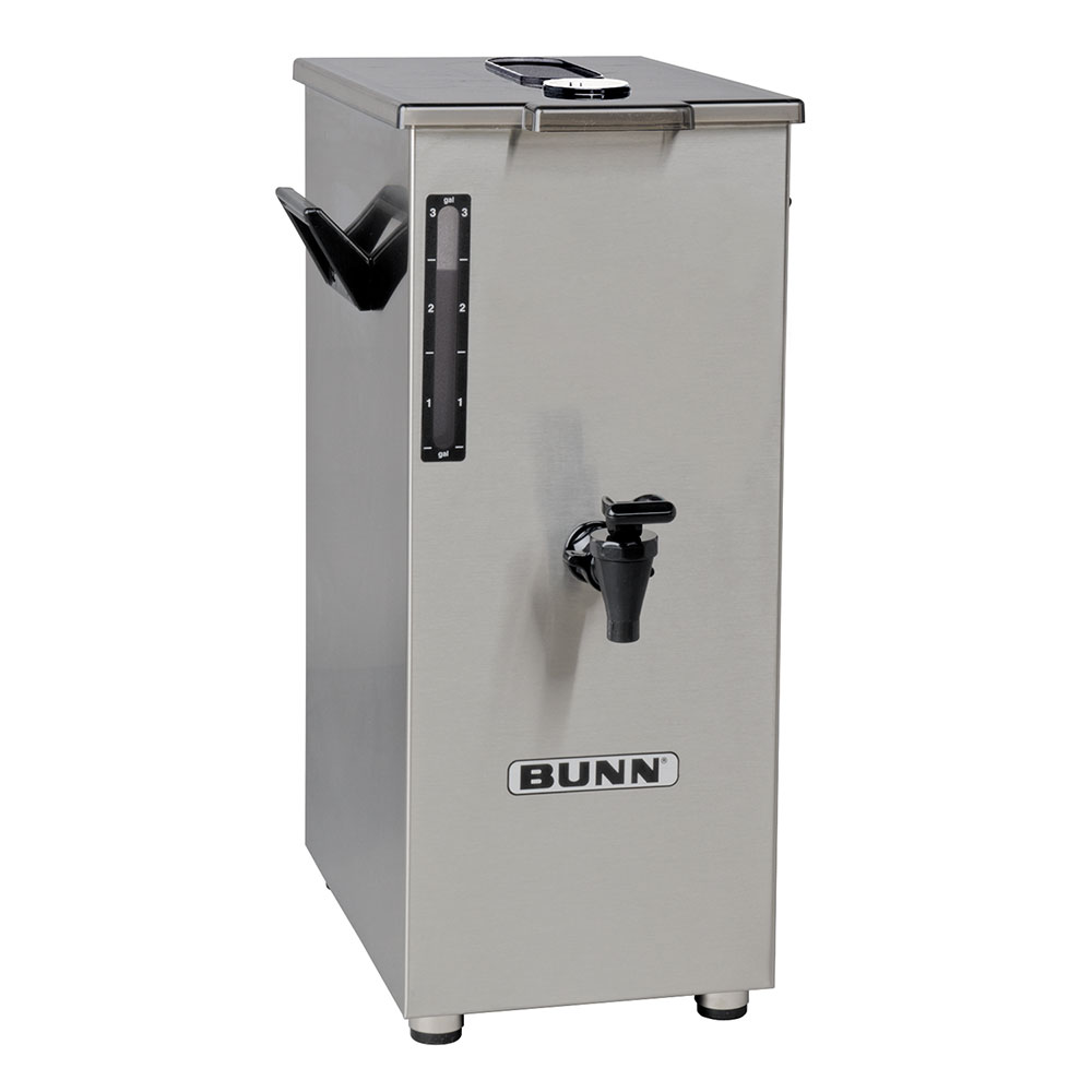 BUNN-O-Matic 03250.0018 4-Gallon Square Iced Tea Dispenser, Brew Thru Lid, No Decal