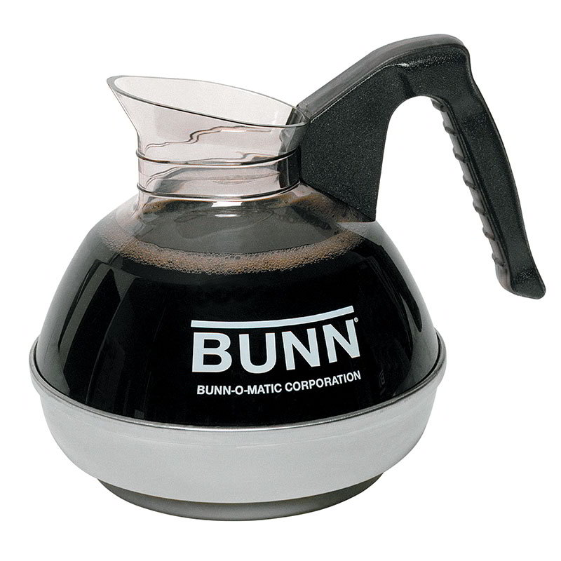 BUNN-O-Matic 06100.0101 Easy Pour Coffee Decanter W/ SS Base, Black Handle