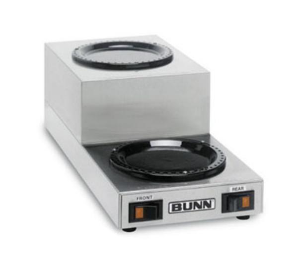 BUNN-O-Matic 12882.0006 WS2 Warmer, Double Step-Up, Black Decor, 120V