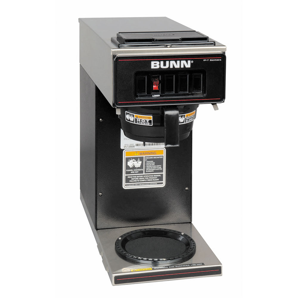 BUNN-O-Matic 13300.0011 VP17-1 Pourover Coffee Brewer, 1 Warmer, Black