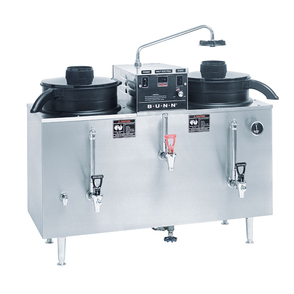 BUNN-O-Matic 20500.0001 U3 Twin Automatic Electric Coffee Urn, 120/240V