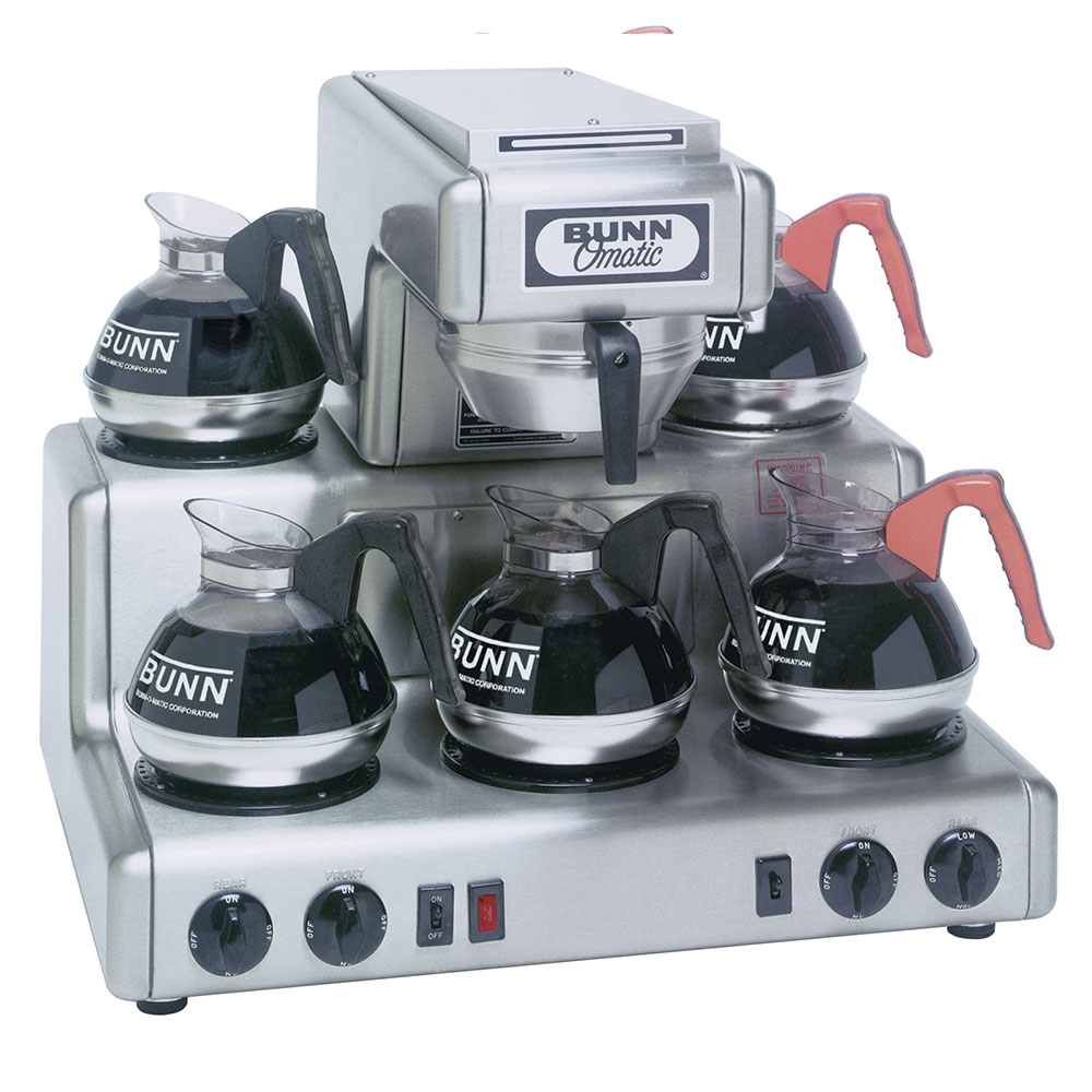 BUNN-O-Matic 20835.0000 RT Coffee Brewer, Automatic, 5 Warmers, No Faucet