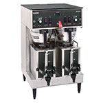 BUNN-O-Matic 20900.0010 Dual Satellite Coffee Brewer W/Servers, S/S, S/S Funnel, 120/208V