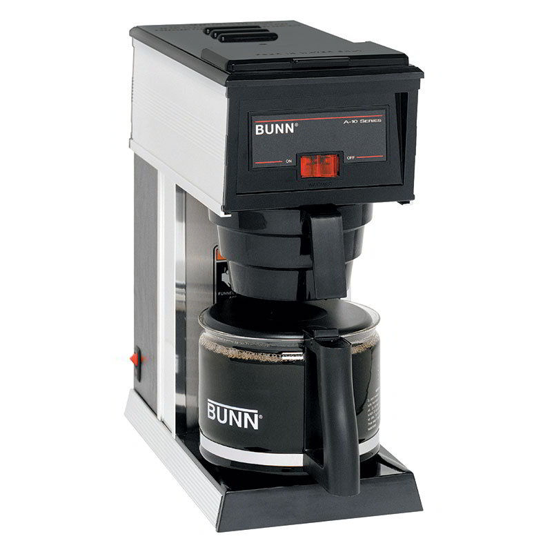 BUNN-O-Matic 21250.0000 10-Cup A10 Pourover Coffee Brewer w/ Warmer & Decanter