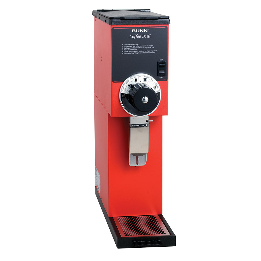 BUNN-O-Matic 22102.0001 G2 HD Red Bulk Coffee Grinder, 2 lb Hopper, Red Finish