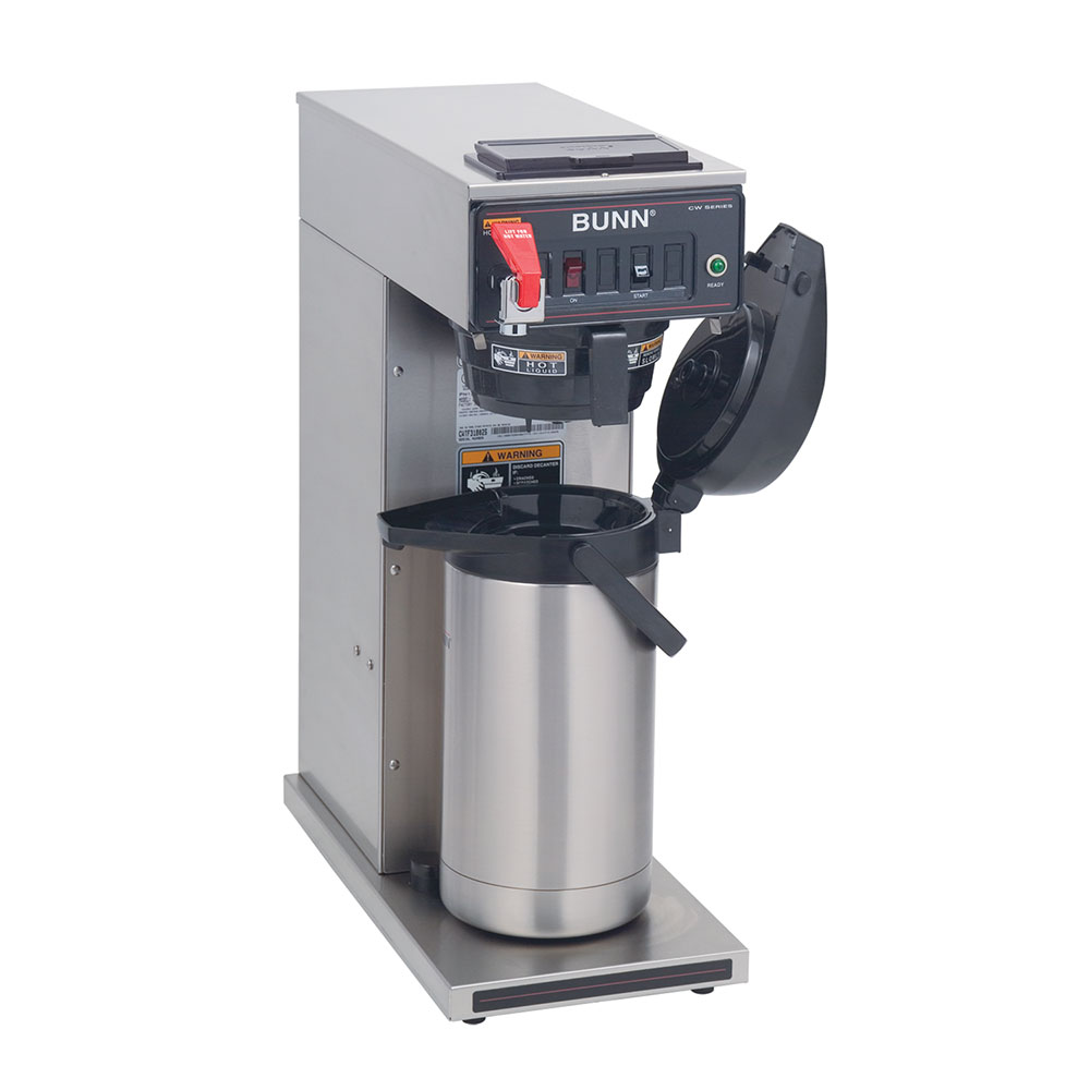 BUNN-O-Matic 23001.0058 CWTF APS-DV Dual Voltage Airpot Coffee Brewer, Black Plastic Funnel