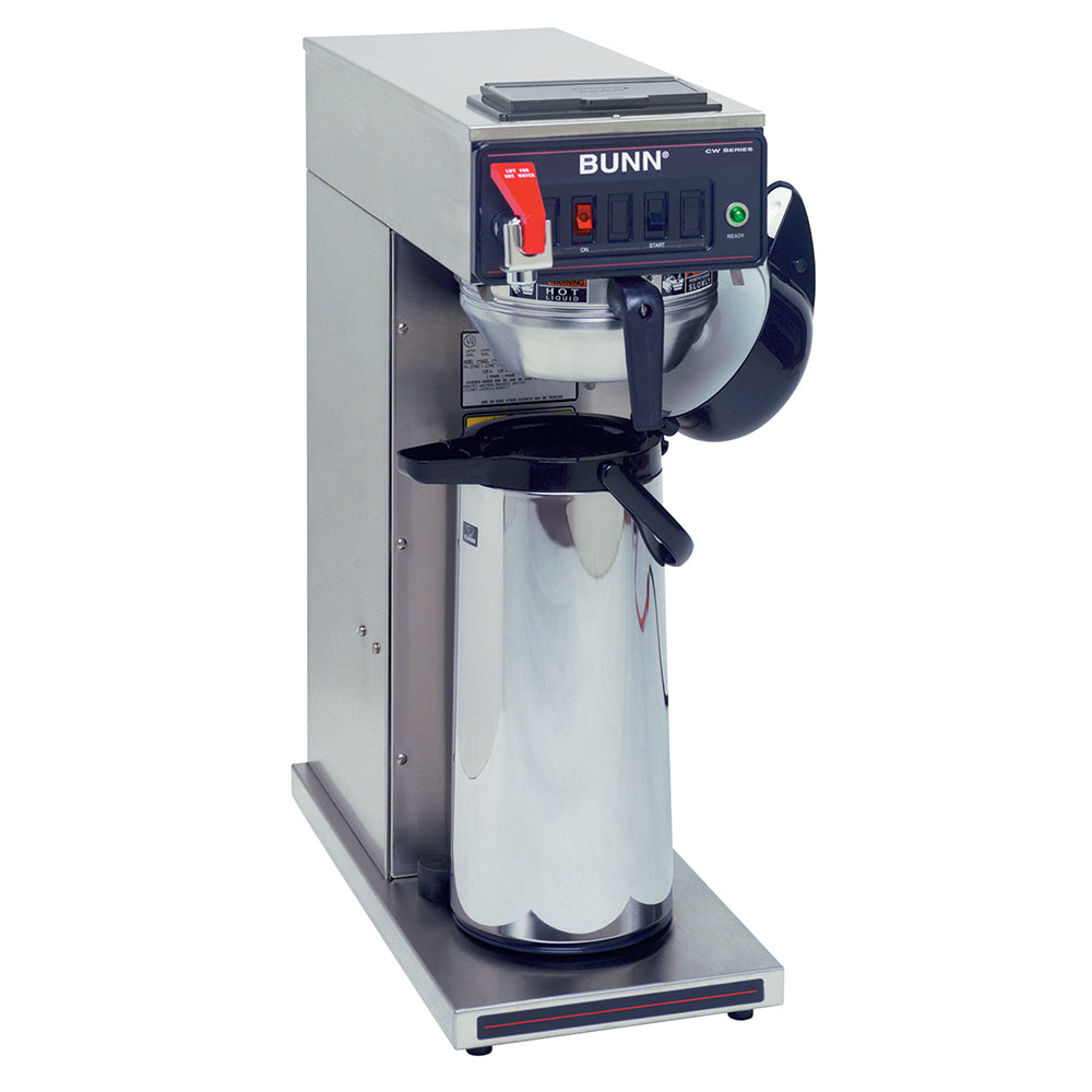 BUNN-O-Matic 23001.0059 Airpot Brewer, Plastic & Stainless Funnels, Dual Voltage
