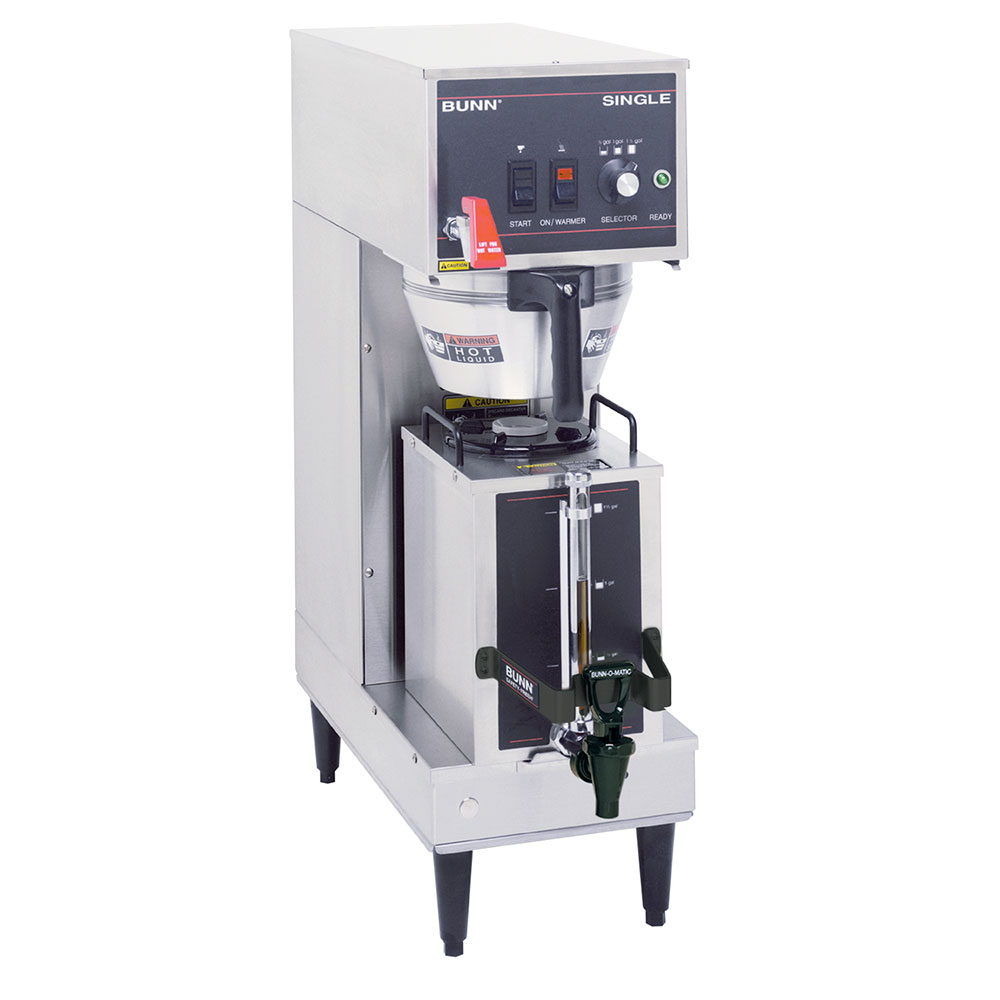 BUNN-O-Matic 23050.0007 Single Satellite Coffee Brewer W/Server, S/S Funnel, 120V