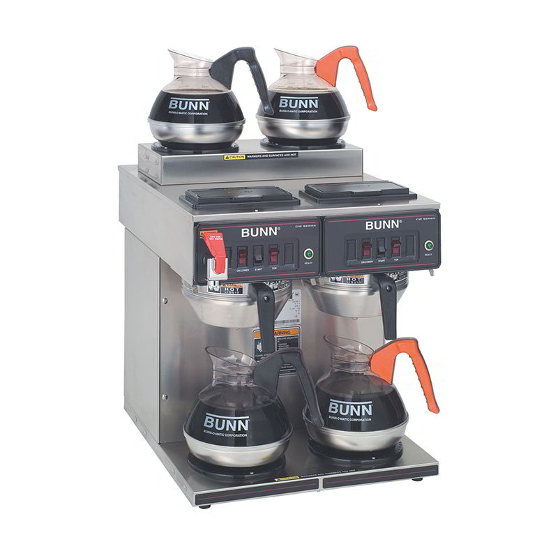 BUNN-O-Matic 23400.0001 Coffee Brewer, 2-Upper/2-Lower Warmers, Pourover Feature, Faucet