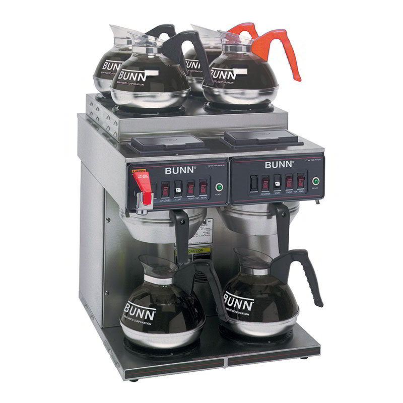 BUNN-O-Matic 23400.0011 Coffee Brewer, 4-Upper/2-Lower Warmers, Pourover Feature, Faucet