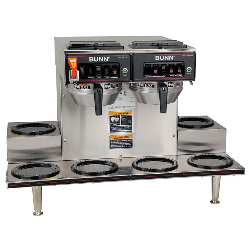 BUNN-O-Matic 23400.0020 CWTF 0/6 Automatic Coffee Brewer, 6 Warmers, 2 Brew Heads