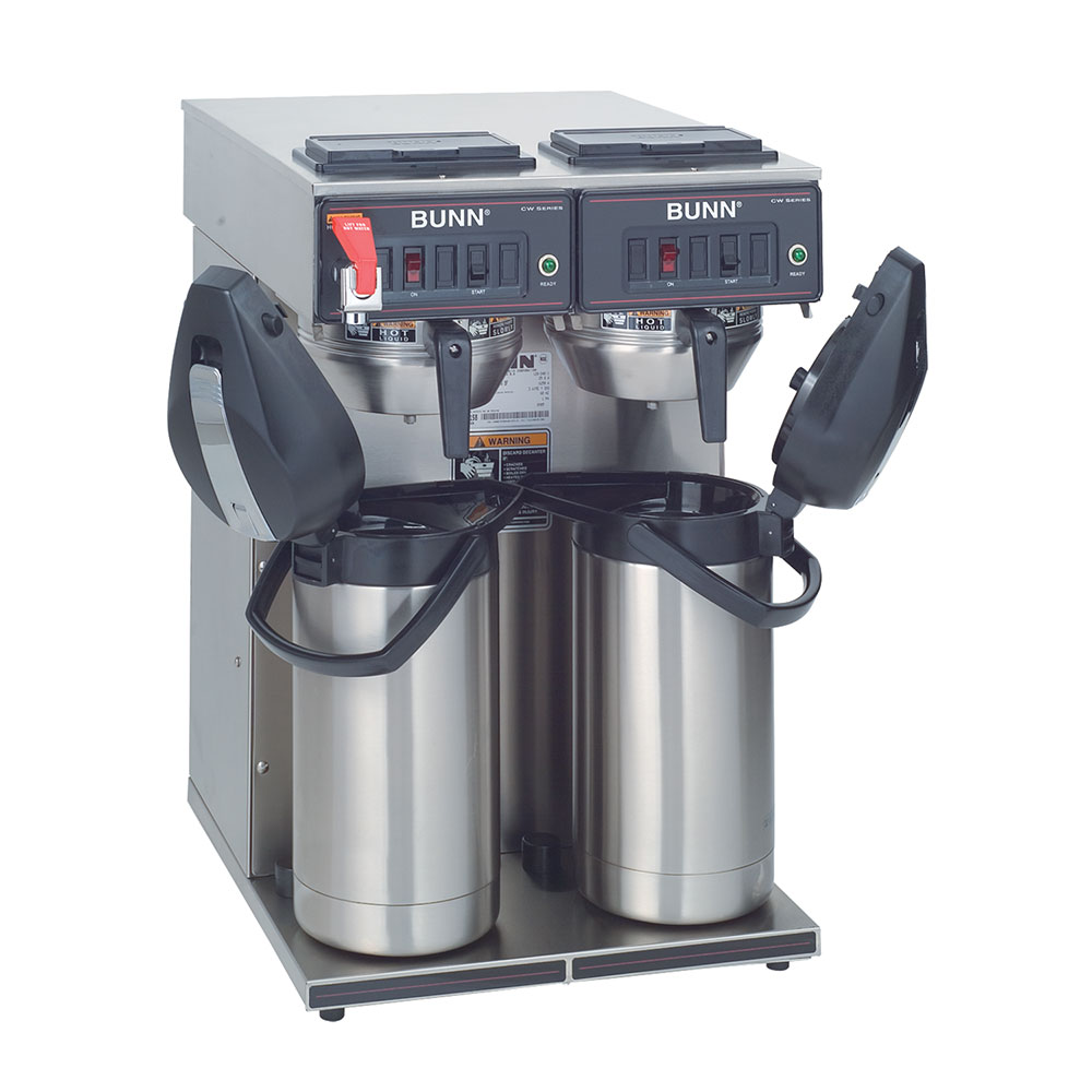 BUNN-O-Matic 23400.0046 CWTF Twin APS Twin Airpot Coffee Brewer, Gourmet Funnel, 120/240V