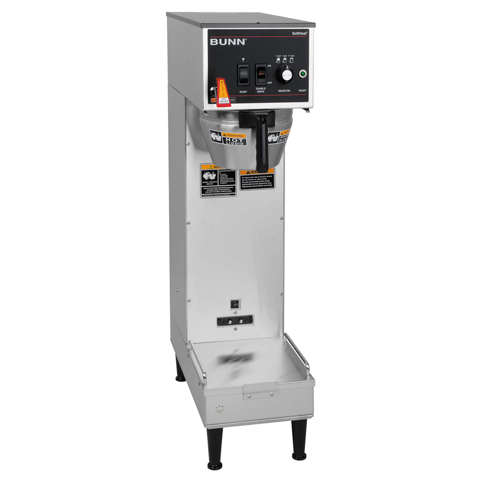 BUNN-O-Matic 27800.0009 Single SH Satellite Coffee Brewer, S/S Finish, 120V
