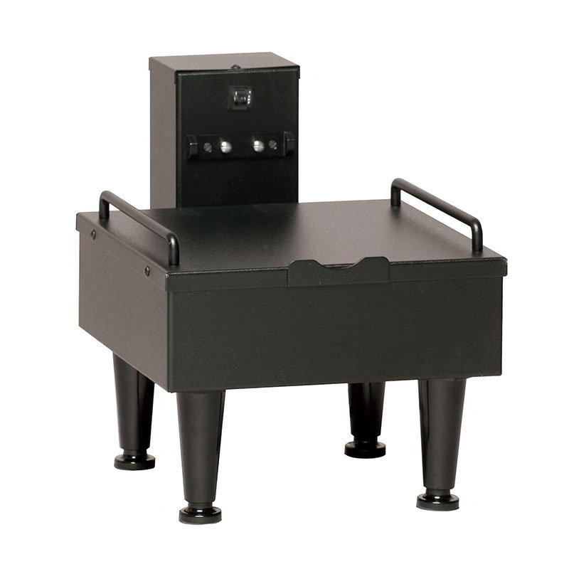 BUNN-O-Matic 27825.0003 1SH Stand For Satellite Coffee Server, Black Finish, 4 in Adj. Legs, 120V