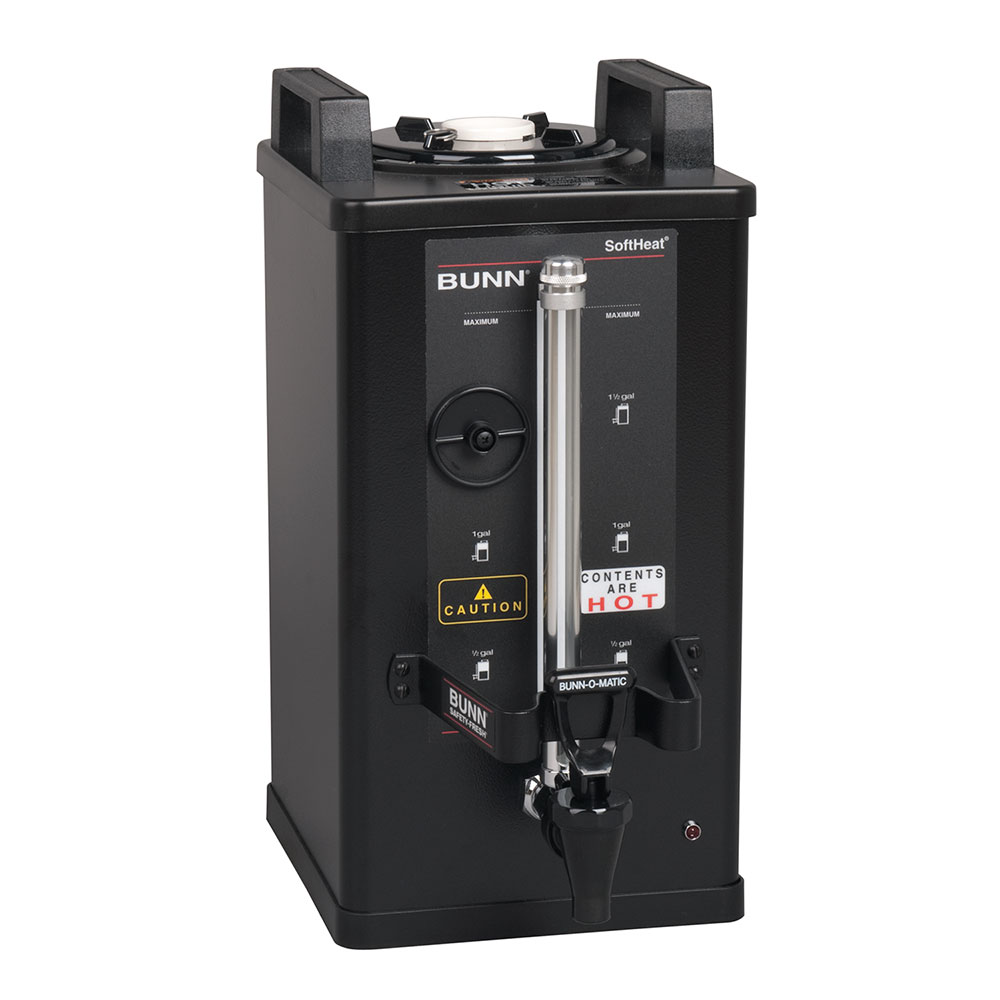 BUNN-O-Matic 27850.0004 1.5-Gallon Satellite Brewer Server, 30 Min. Setting, Black Finish