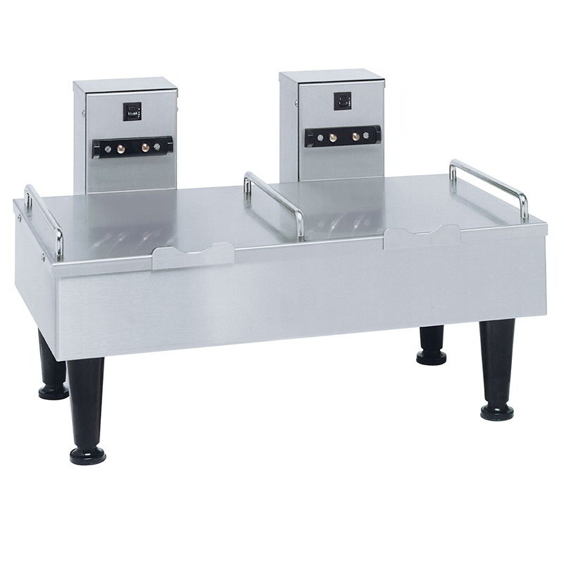 BUNN-O-Matic 27875.0000 2SH Stand For 2 Satellite Coffee Servers, S/S Finish, 4 in Legs, 120V