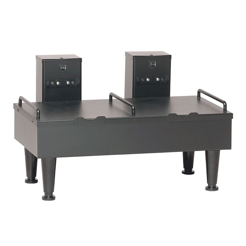 BUNN-O-Matic 27875.0003 2SH Stand For 2 Satellite Coffee Servers, Black Finish, 4 in Legs, 120V