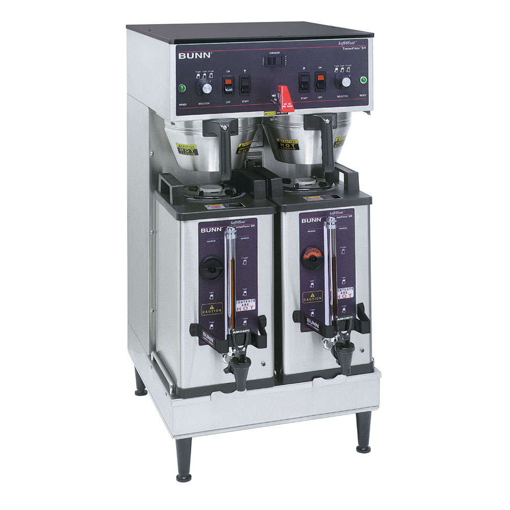 BUNN-O-Matic 27900.0002 Dual SH Dual Satellite Coffee Brewer, S/S Finish, 120/240V