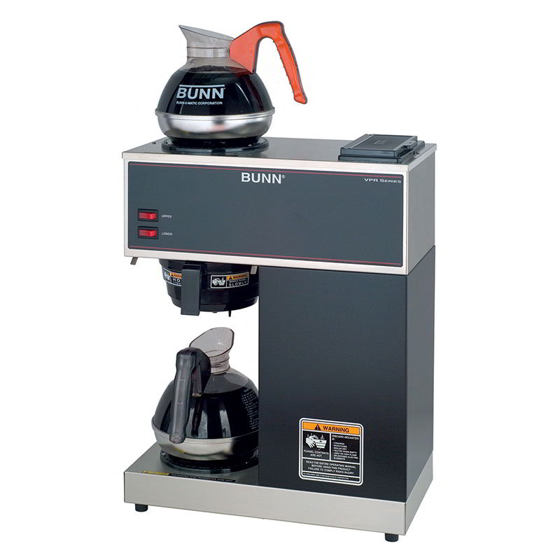 BUNN-O-Matic 33200.0002 Pourover Coffee Brewer, Lower/Upper Warmer, Decanters