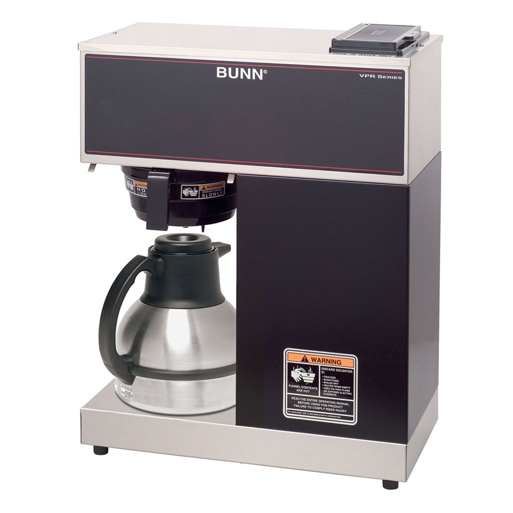 BUNN-O-Matic 33200.0011 VPR-TC Pourover Thermal Carafe Brewer, Splash Guard Funnel