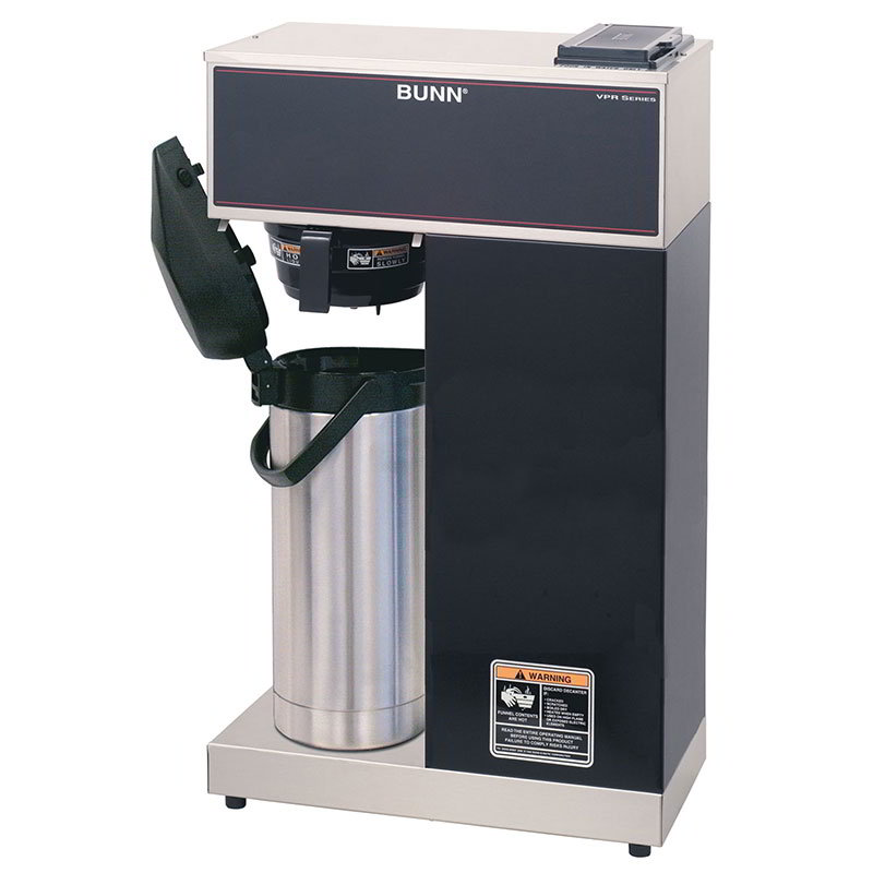 BUNN-O-Matic 33200.0014 Pourover Airpot Brewer, Airpot, Stainless/Black Finish, 120v
