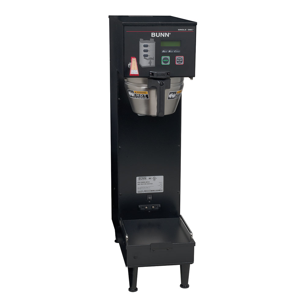 BUNN-O-Matic 33600.0013 Single SH DBC, Satellite Brewer, Black Finish, Uppe