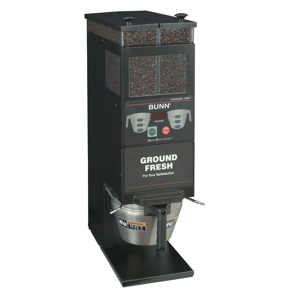 BUNN-O-Matic 33700.0001 Coffee Grinder, 2-Hoppers & Wireless Interface, Black