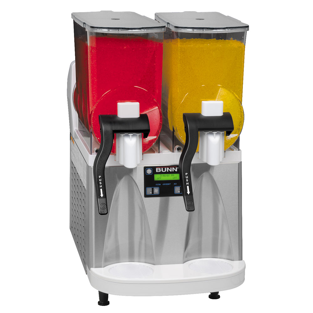 BUNN-O-Matic 34000.0012 ULTRA-2 Frozen Drink Machine, S/S/ White Finish, Flat Lid