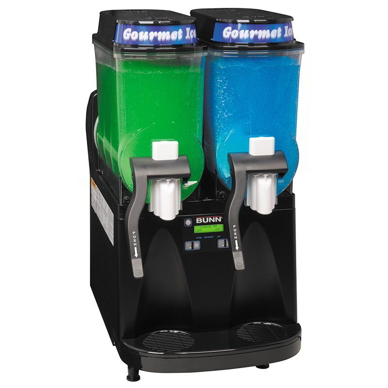 BUNN-O-Matic 34000.0080 Ultra Gourmet Ice Frozen Drink Machine - (2) 3-gal Hoppers, Black