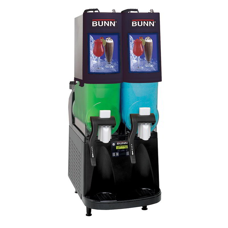 BUNN-O-Matic 340000501 Frozen Beverage Machine w/ (2) 2-gal Hoppers & LED Backlighting