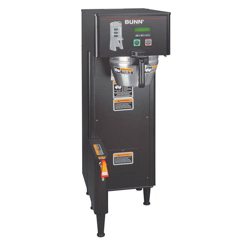 BUNN-O-Matic 34800.0004 Single TF DBC Single Satellite Coffee Brewer, Black Finish, 120/240V