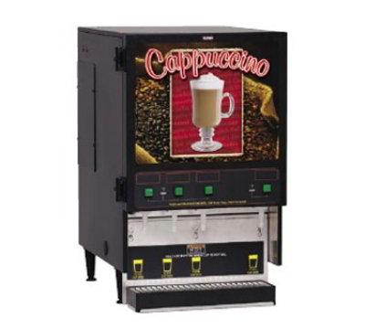 BUNN-O-Matic 34900.0002 Powdered Beverage Dispenser, 4-Hoppers, 6.4-Gal Hot Water Tank