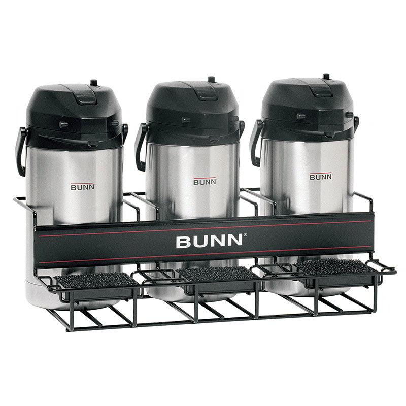 BUNN-O-Matic 35728.0002 UNIV-3 APR Universal Airpot Rack, For 3 Airpots, Holds 3 Lower