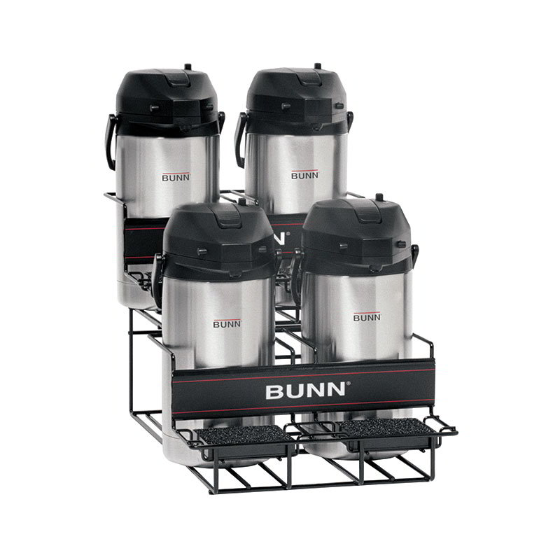 BUNN-O-Matic 35728.0003 UNIV-4 APR Universal Airpot Rack, For 4 Airpots, Holds 2 Upper/2 Lower
