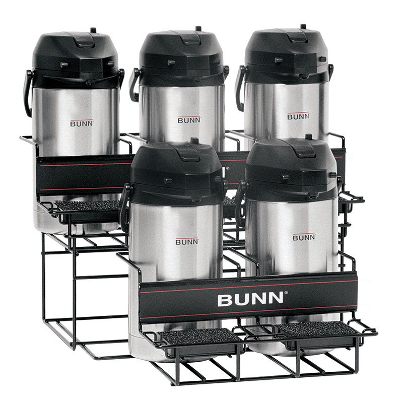 BUNN-O-Matic 35728.0004 UNIV-5 APR Universal Airpot Rack, For 5 Airpots, Holds 3 Upper/2 Lower