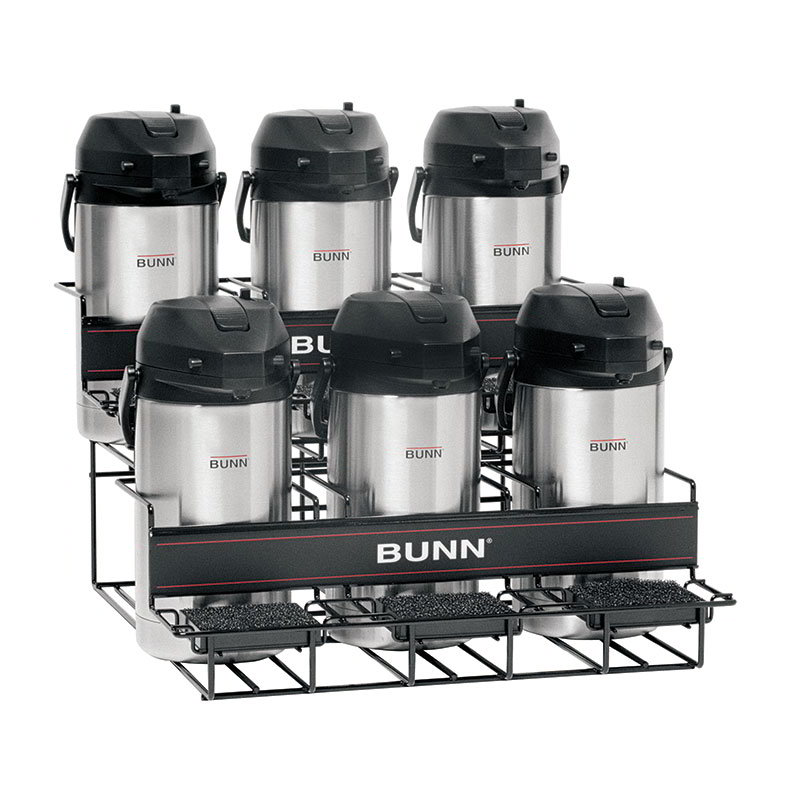 BUNN-O-Matic 35728.0005 UNIV-6 APR Universal Airpot Rack, For 6 Airpots, Holds 3 Upper/3 Lower