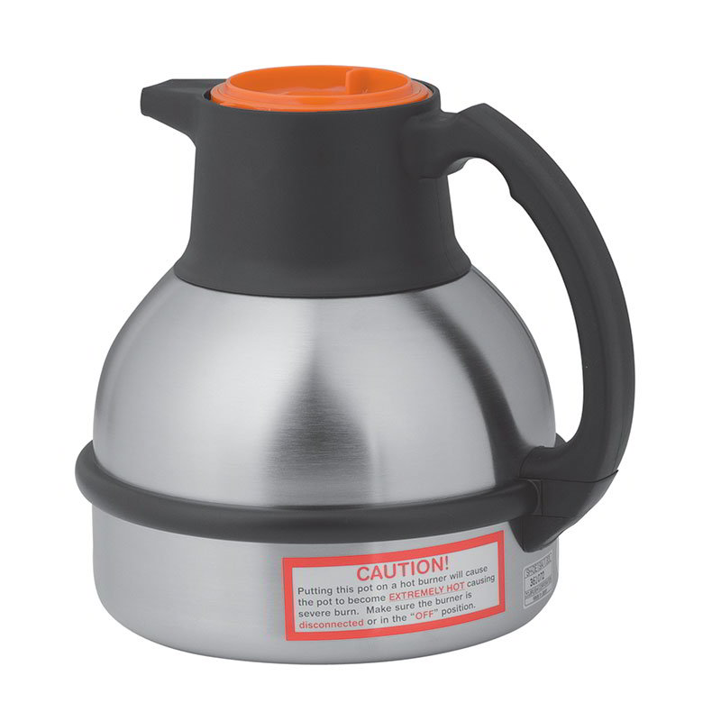 BUNN-O-Matic 36252.0001 Thermal Carafe, 1.85 Liters, S/S Liner, Orange Lid