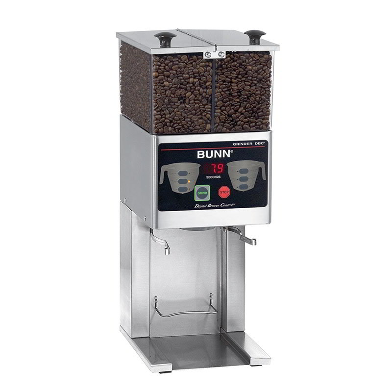 BUNN-O-Matic 36400.0000 FPG-2 DBC Coffee Grinder For French Press, 2 Hoppers, Digital