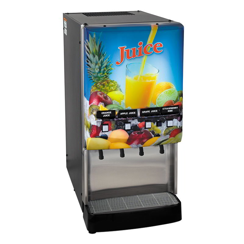 BUNN-O-Matic 37300.0006 4-Flavor Cold Beverage System, Water Dispense, Juice Display, 120V