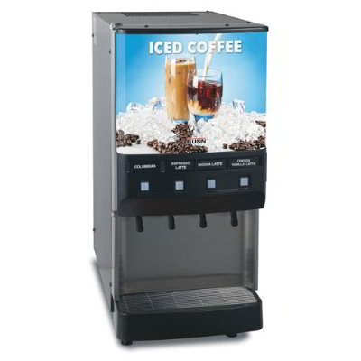 BUNN-O-Matic 37300.0013 4-Flavor Cold Beverage System, Iced Coffee Display, 120 V
