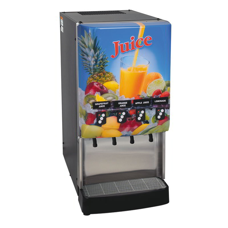 BUNN-O-Matic 37300.0023 4-Flavor Cold Beverage System, Portion Control, Juice Display, 120V